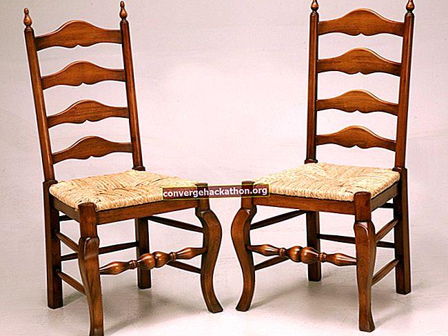 Chaise avec dossier en échelle